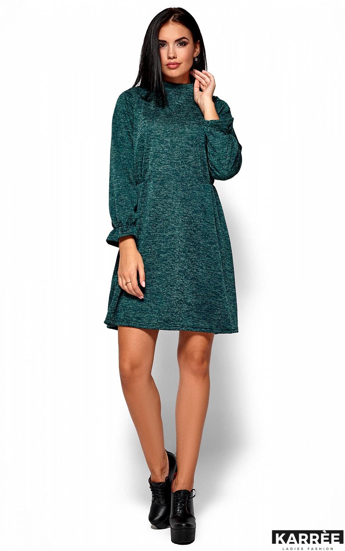 Платье Павлина, Темно-зеленый - фото 4