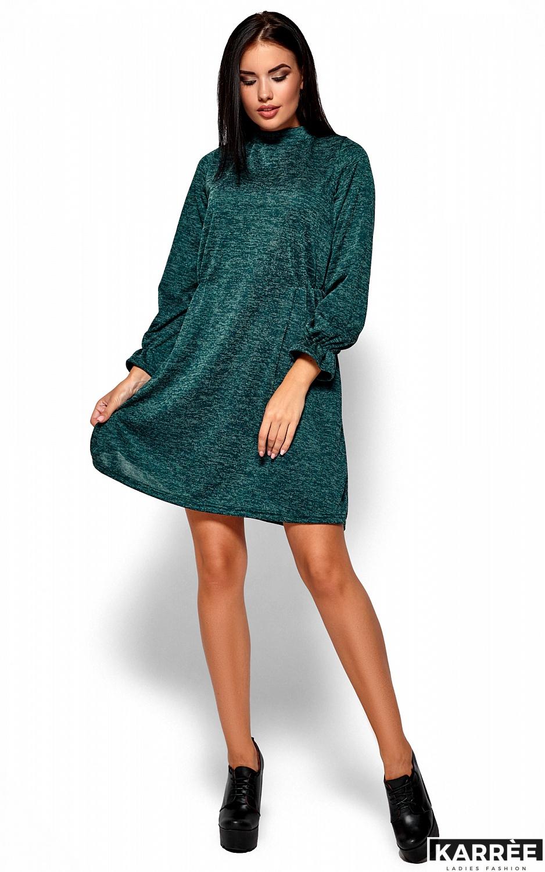 Платье Павлина, Темно-зеленый - фото 1