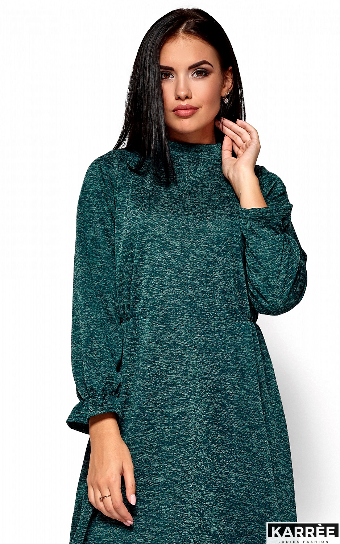 Платье Павлина, Темно-зеленый - фото 2