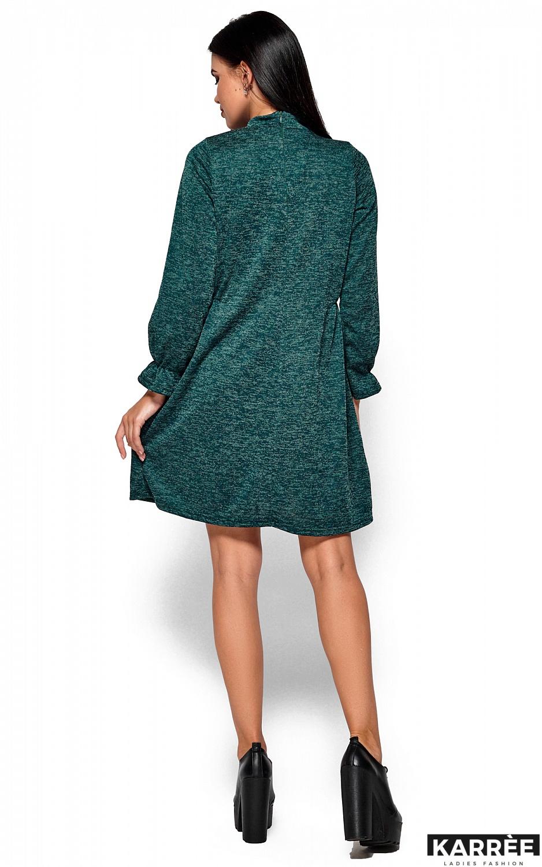 Платье Павлина, Темно-зеленый - фото 3