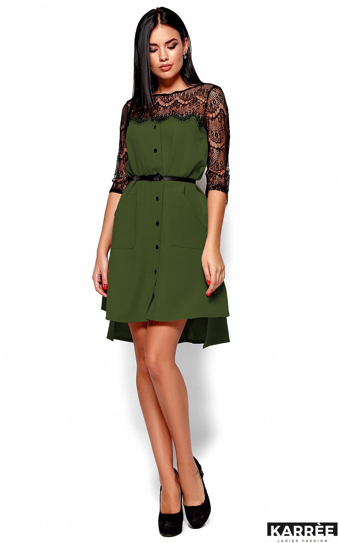 Платье Айлин, Хаки - фото 4