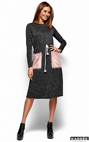 Платье Флайти, Черный - фото 5