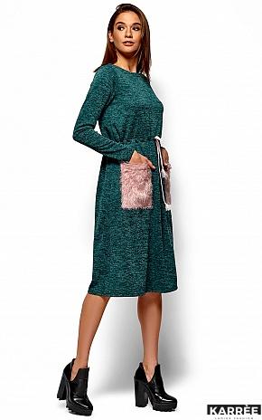 Платье Флайти, Темно-зеленый - фото 5