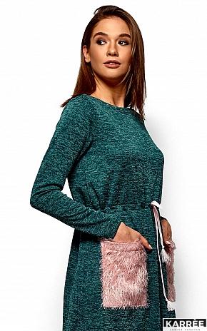 Платье Флайти, Темно-зеленый - фото 2
