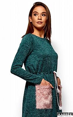 Платье Флайти, Темно-зеленый