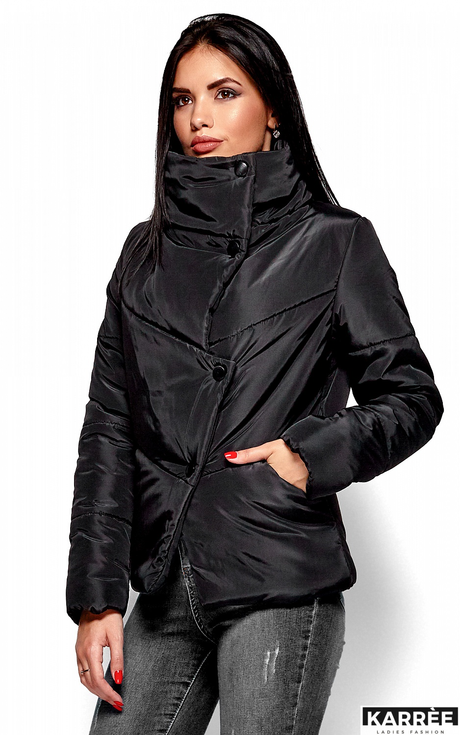 Куртка Стелла, Черный - фото 2