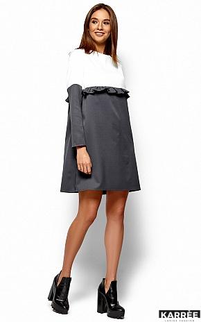 Платье Ванесса, Серый - фото 4