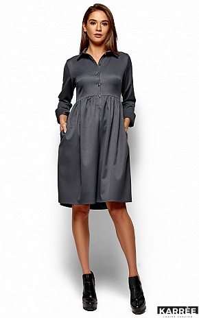 Платье Триша, Серый - фото 4