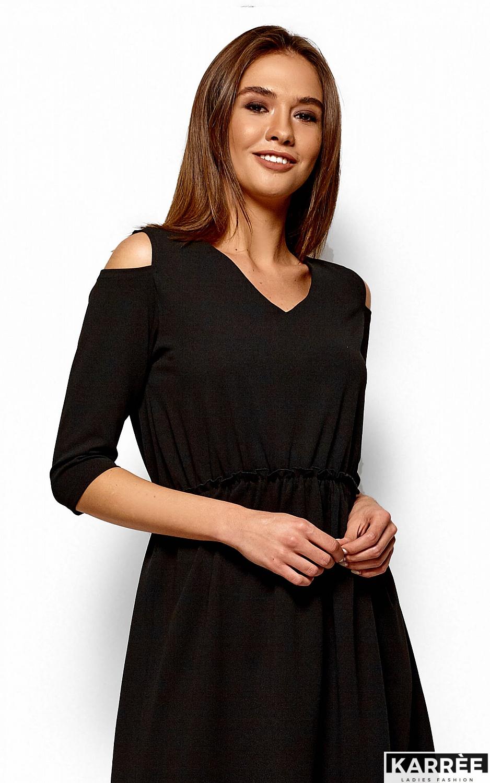 Платье Злата, Черный - фото 2