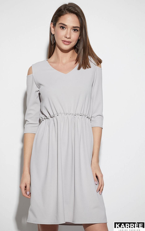 Платье Злата, Светло-серый - фото 2