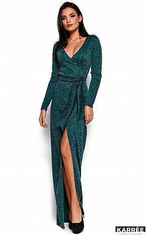 Платье Карла, Темно-зеленый - фото 4