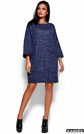 Платье Деми, Темно-синий - фото 4