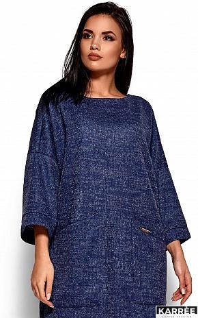 Платье Деми, Темно-синий - фото 2