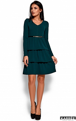 Платье Шарлиз, Темно-зеленый - фото 4