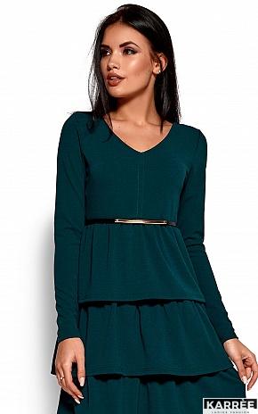 Платье Шарлиз, Темно-зеленый - фото 2