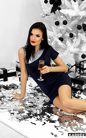 Платье Зара, Темно-синий - фото 5