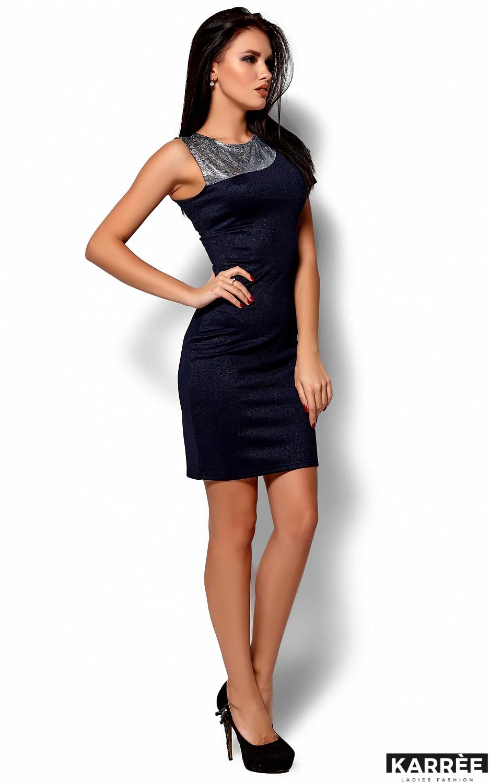 Платье Зара, Темно-синий - фото 4