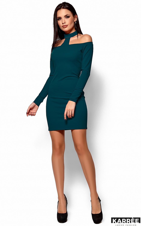 Платье Юлиана, Темно-зеленый - фото 4