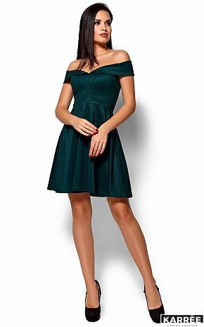 Платье Айла, Темно-зеленый - фото 4