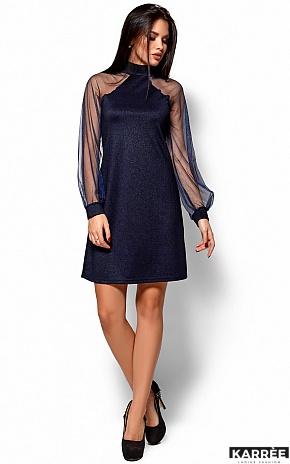Платье Рената, Темно-синий - фото 1