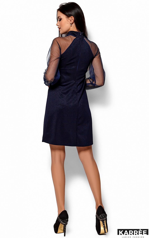 Платье Рената, Темно-синий - фото 3