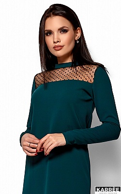 Платье Руби, Темно-зеленый