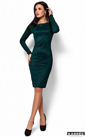 Платье Люси, Темно-зеленый - фото 1