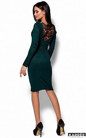Платье Люси, Темно-зеленый - фото 4