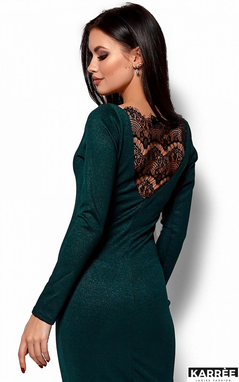 Платье Люси, Темно-зеленый - фото 2