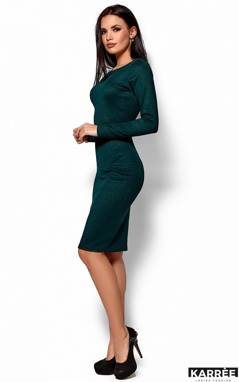 Платье Люси, Темно-зеленый - фото 3