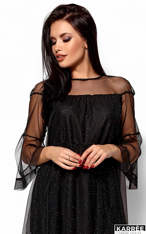 Платье Иви, Черный - фото 2