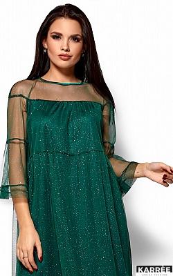 Платье Иви, Темно-зеленый