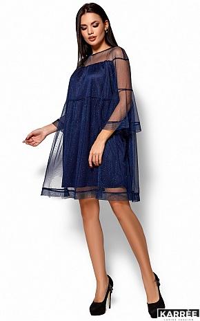 Платье Иви, Темно-синий - фото 4