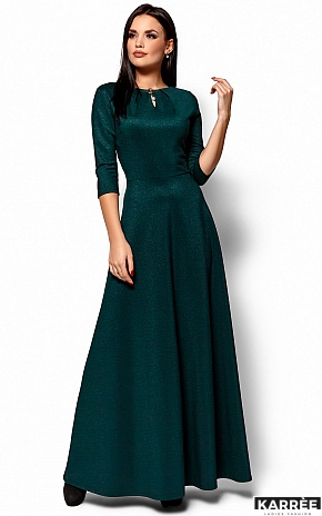 Платье Лилит, Темно-зеленый - фото 4