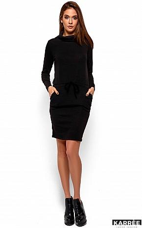 Платье Дилара, Черный - фото 2