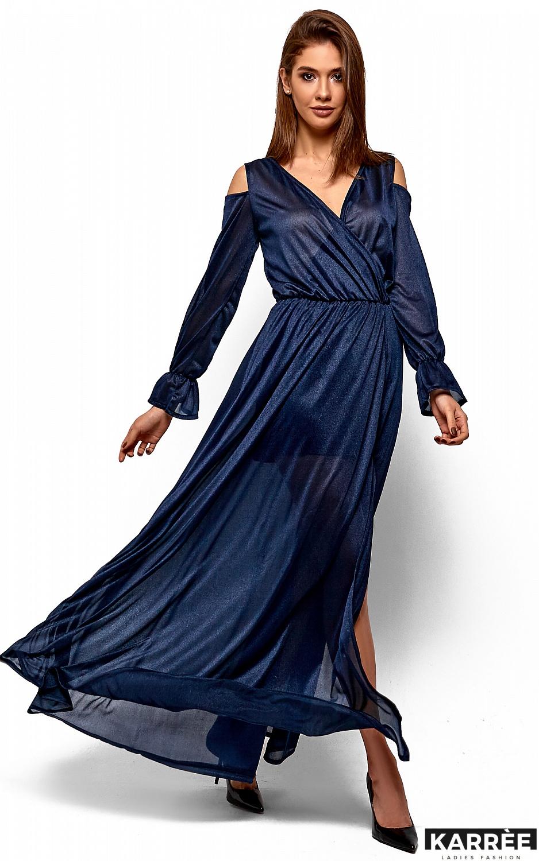 Платье Голди, Темно-синий - фото 3