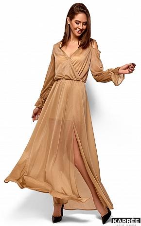Платье Голди, Бежевый - фото 3