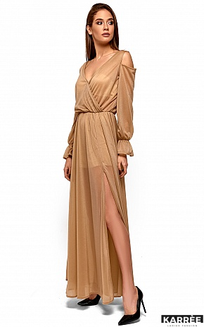 Платье Голди, Бежевый - фото 4