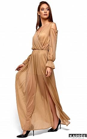 Платье Голди, Бежевый - фото 5