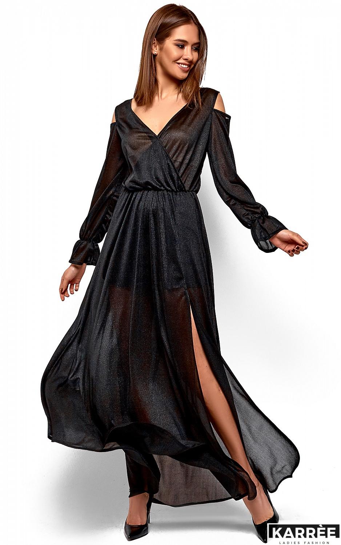 Платье Голди, Черный - фото 2
