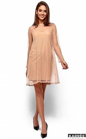 Платье Дасти, Бежевый - фото 2