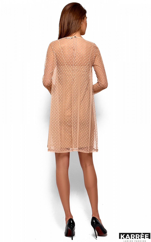 Платье Дасти, Бежевый - фото 4