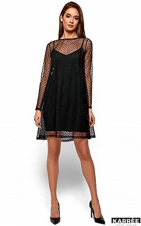 Платье Дасти, Черный - фото 2