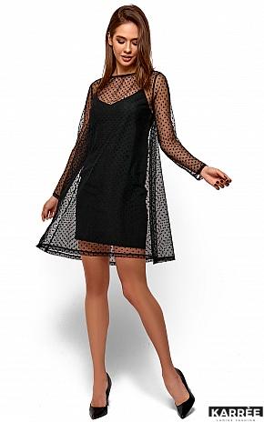 Платье Дасти, Черный - фото 3