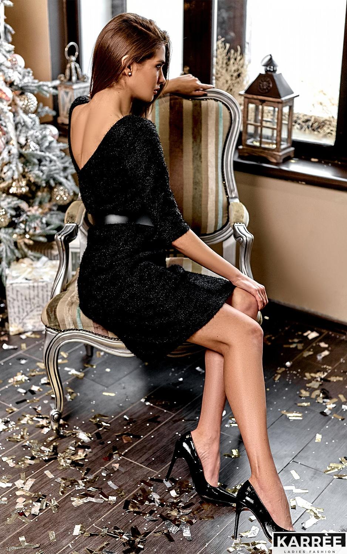 Платье Викки, Черный - фото 1