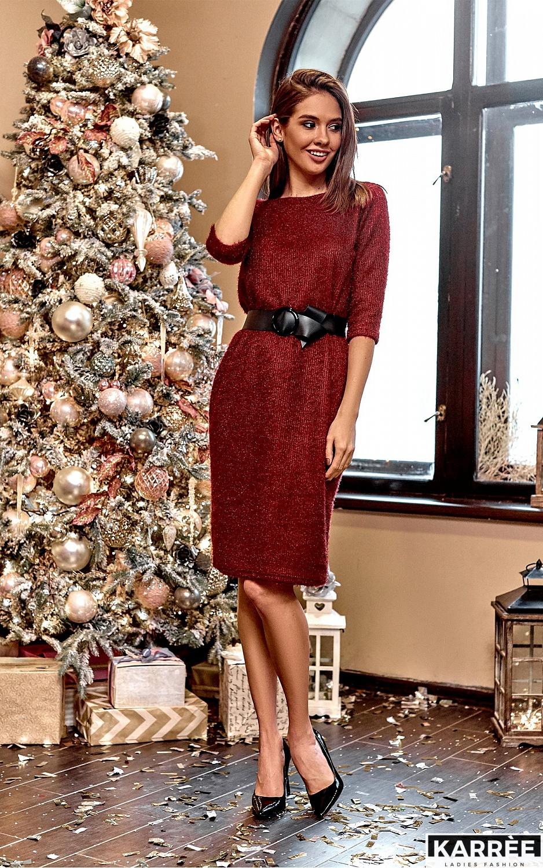 Платье Викки, Марсала - фото 1