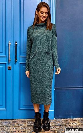 Платье Эрика, Темно-зеленый - фото 6