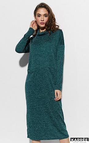 Платье Эрика, Темно-зеленый - фото 2