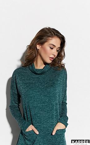 Платье Эрика, Темно-зеленый - фото 3