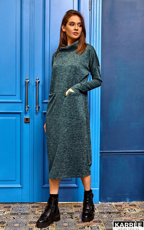 Платье Эрика, Темно-зеленый - фото 5